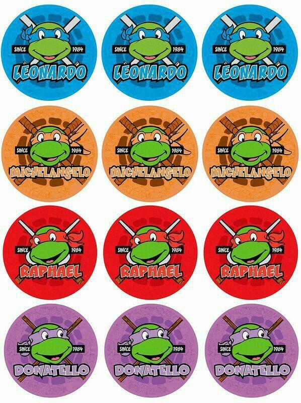 Pin By Tiffi Brew On Tortugas Ninjas Ninja Turtle Party Bottle Cap Crafts Turtle Birthday Parties