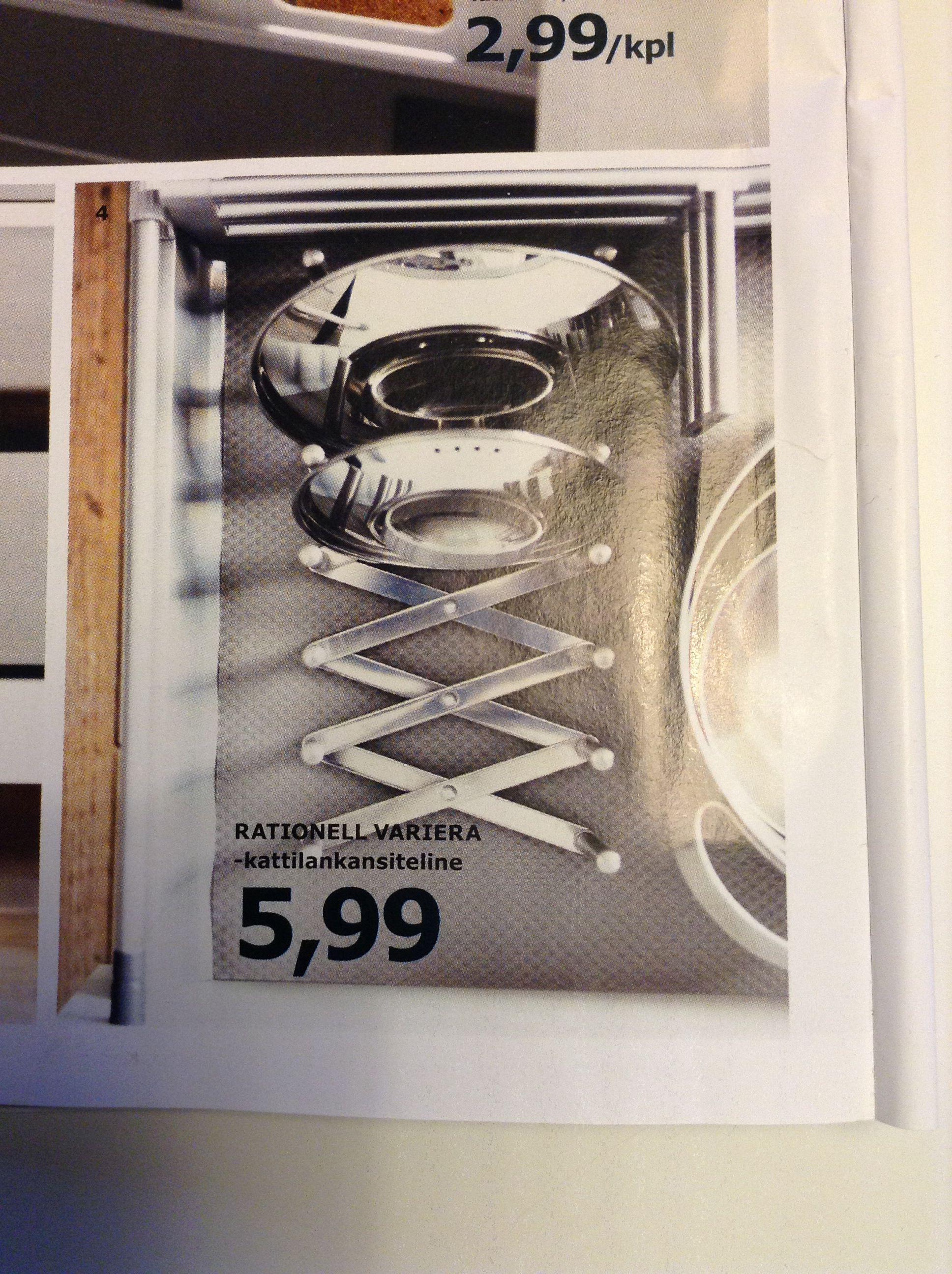 Kattilankansiteline Ikea  Keittiö  Pinterest