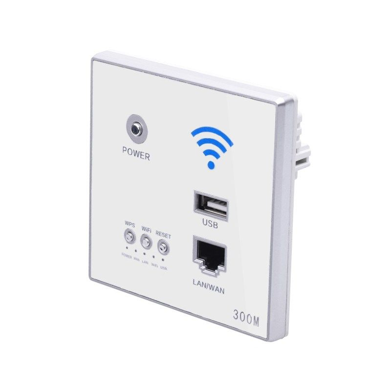 300Mbps Wall Router 110V/220V Power Ap Relay Smart Wireless