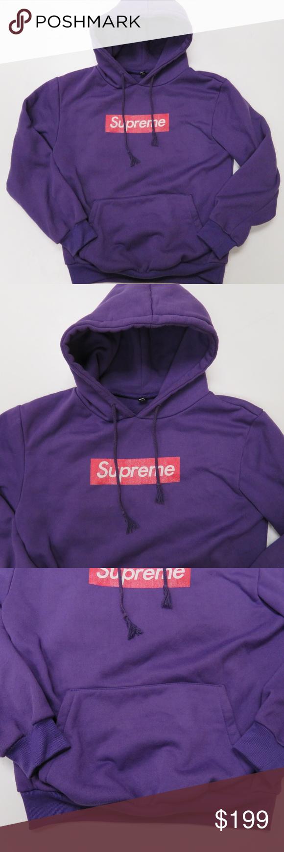 Supreme Box Logo Purple Hoodie Medium Supreme Women S Size Medium Purple Pullover Hooded Sweatshirt It Has Some Pilling Purple Hoodie Hoodies Clothes Design [ 1740 x 580 Pixel ]