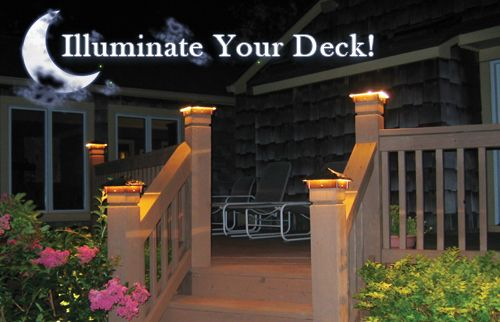 Dekor U2122 Millenium Post Caps And Illuminations Baers At Dusk Ideas For The Home Pinterest Deck Lighting Decking Backyard