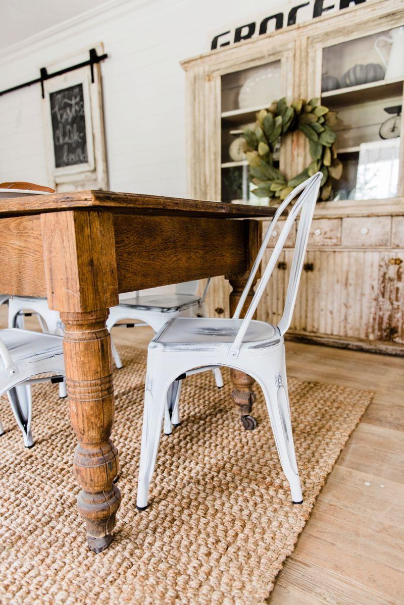 New Farmhouse Dining Chairs White farmhouse Metal
