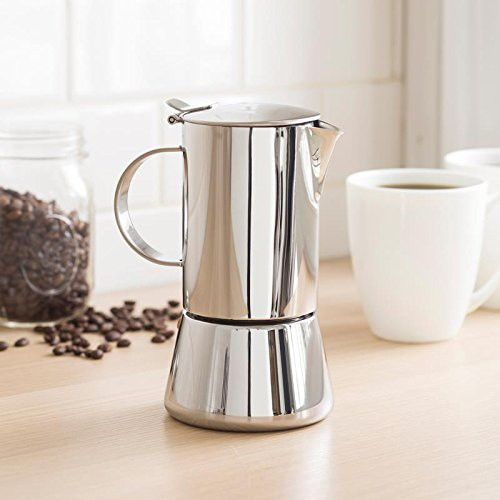 Vev Vigano Sonia Inox 4 Cup Coffee Pot Coffee Pot Cookware And Bakeware Coffee