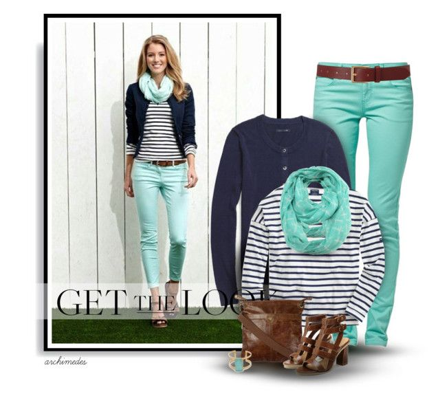 Mint and Navy by archimedes16 on Polyvore featuring polyvore, fashion, style, Saint James, Tommy Hilfiger, Fat Face, Kate Spade, ModestlyChic Apparel, Barneys New York and clothing