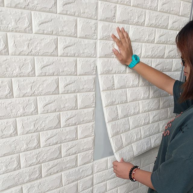 3d Brick Wall Sticker Waterproof With Glue White Home Decor Ideas Diy Farmhouse Decor Farmhouse Wall Decals Living Room Wall Stickers Brick Brick Wallpaper