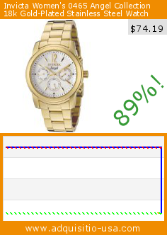 Invicta Women's 0465 Angel Collection 18k Gold-Plated Stainless Steel Watch (Watch). Drop 89%! Current price $74.19, the previous price was $695.00. http://www.adquisitio-usa.com/invicta/womens-0465-angel