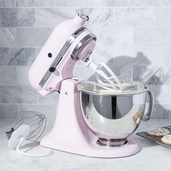 Crate Barrel Kitchenaid Pink Stand Mixer 460 Liked On Polyvore