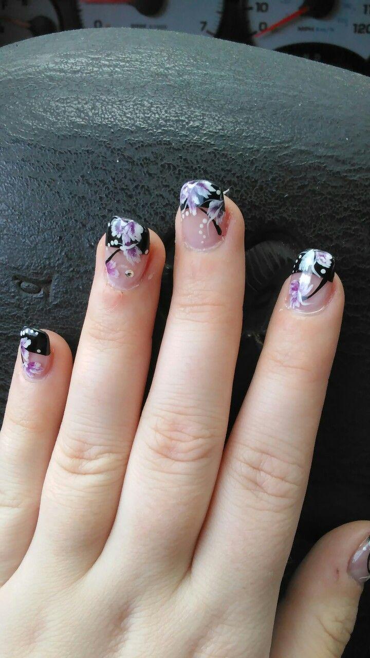 Japanese cherry blossom nail art courtesy of Nikki at Katelyn Nails ...