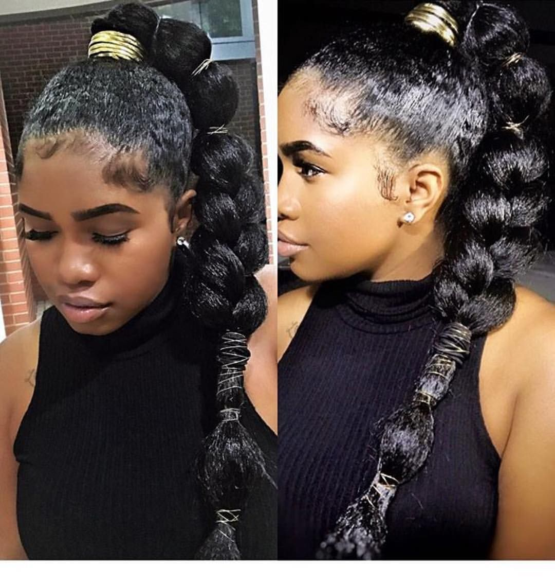 Curlyhairedchik Last Nights Look In Two Different Lightings And Angles I Did A Quick High P High Ponytail Hairstyles Natural Hair Styles Kanekalon Hairstyles