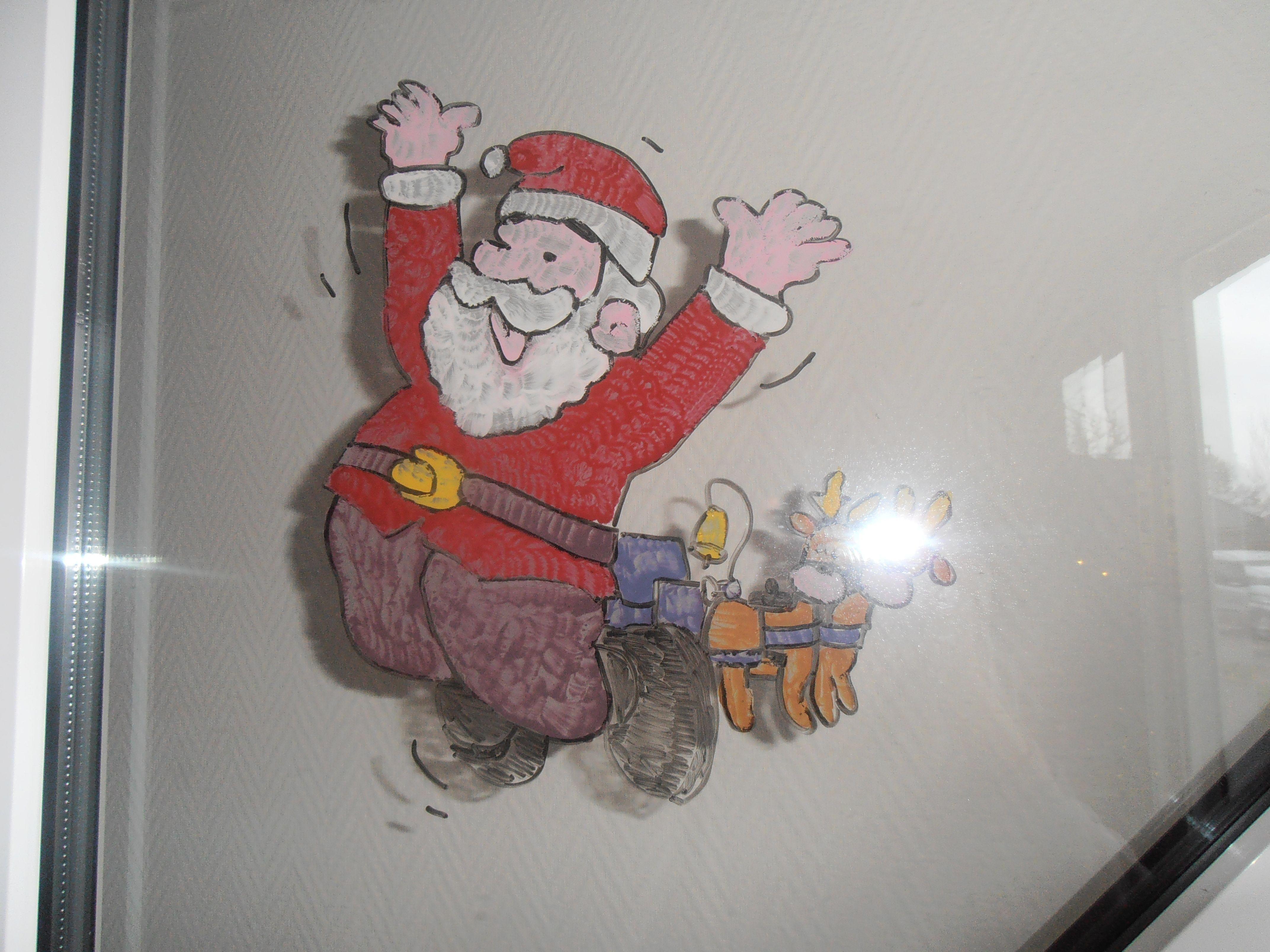 Raamschildering kerst Christmas window painting