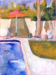 Partial Shade, 10x8, oil on panel, original oil painting by Mandy Main