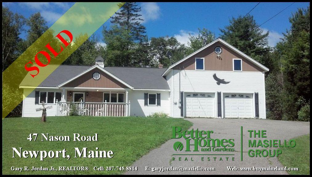 Newport Maine Sold Professional Representation Marketing
