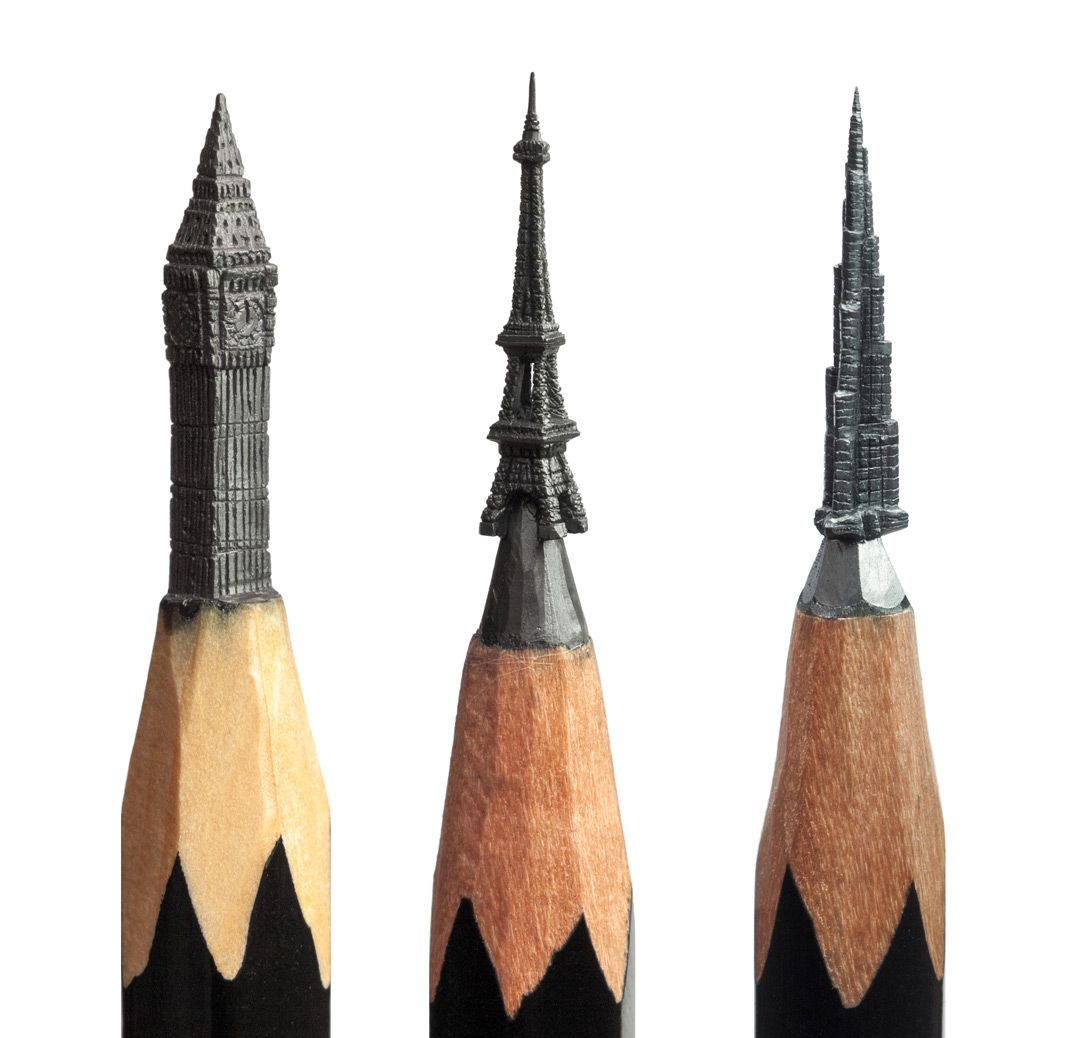 This Russian Artist Carves Incredible Miniatures Into The Lead Of - Artist carves miniature pop culture sculptures into pencils