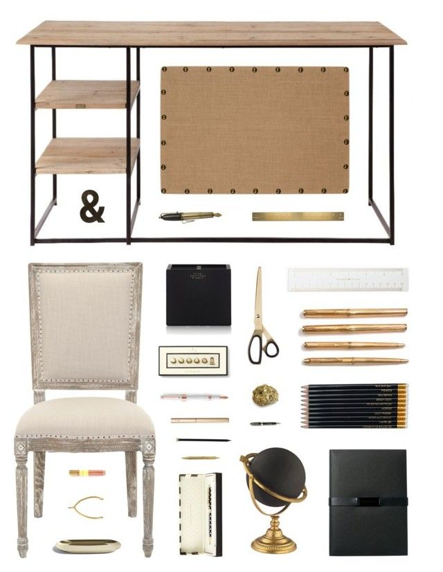 """Retro Modern Desk Decor"" by belenloperfido ❤ liked on Polyvore featuring interior, interiors, interior design, home, home decor, interior decorating, Zuo, Safavieh, Kate Spade and Sloane Stationery"