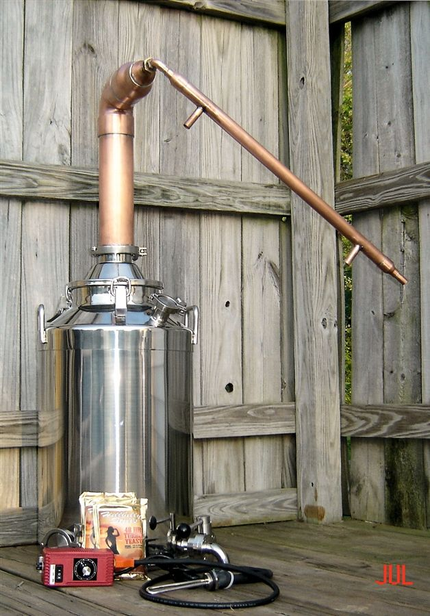 13 Gallon Copper Moonshine Still Kit / 13 gallon Kettles ...