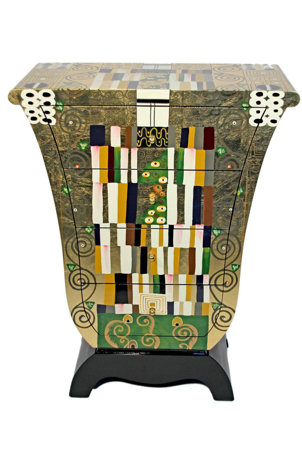 gustav klimt kommode in tulpenform motiv schmalwand gustav klimt casa collection pinterest. Black Bedroom Furniture Sets. Home Design Ideas