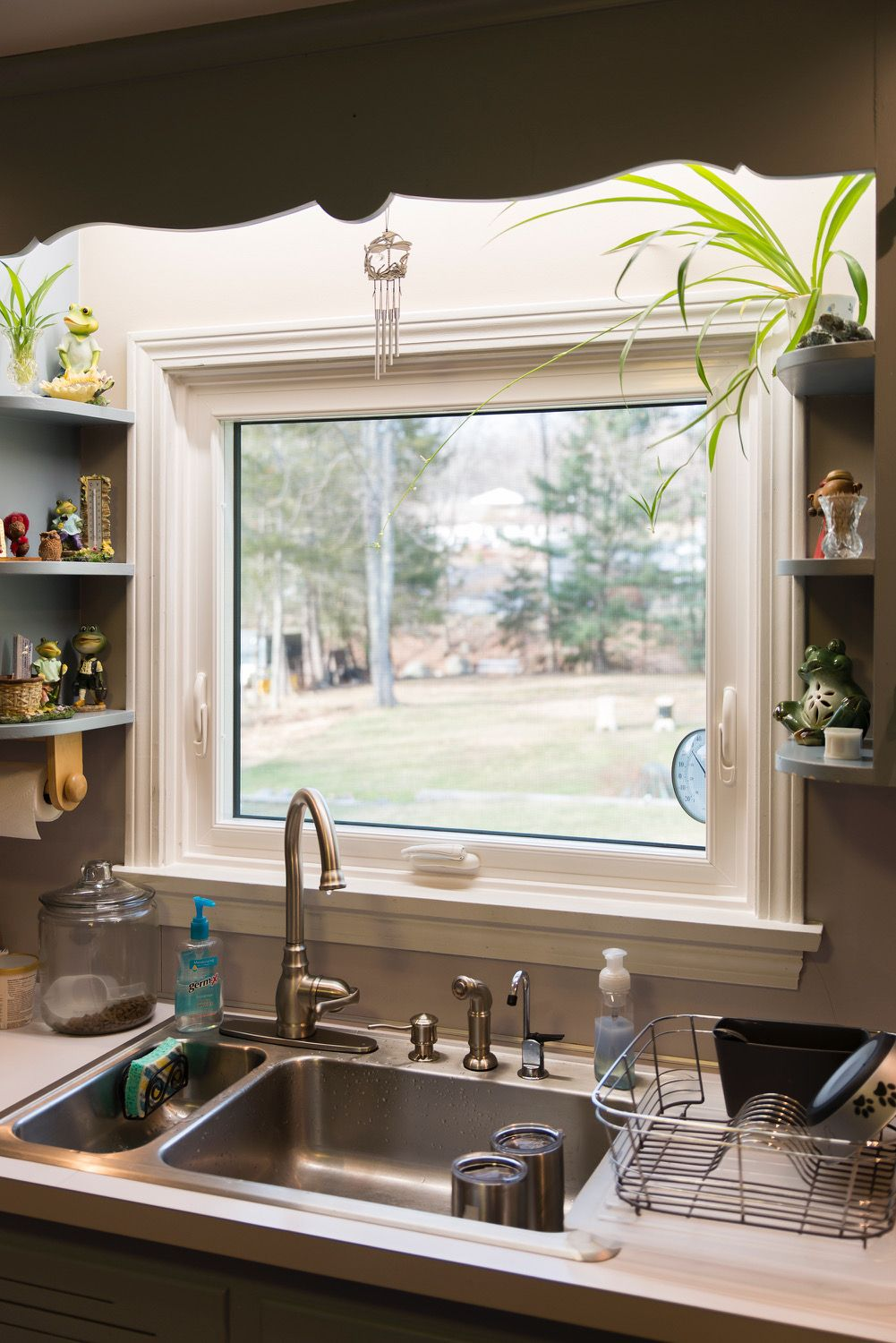 clean look of the awning window over the kitchen sink modern kitchen sinks awning windows on kitchen sink id=68497