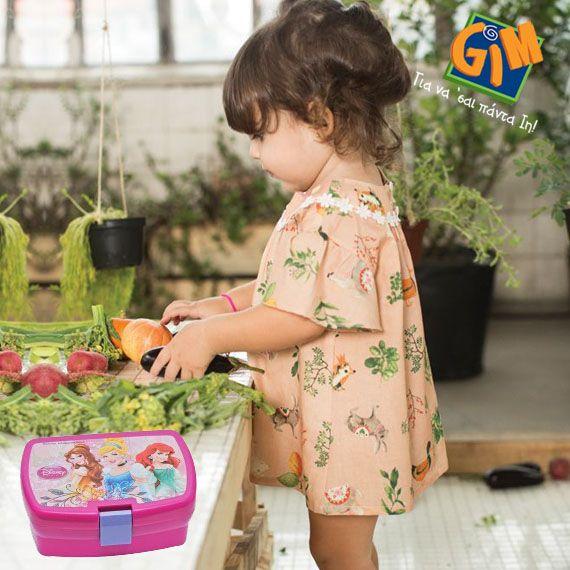 Μαμά θ' αποθηκεύσω τα λαχανικά στο δοχείο και έρχομαι να σε βοηθήσω! #Princess δοχείο φαγητού από τη GIM! http://goo.gl/8gV4Ui #gimsa #gianasaipadain #disney