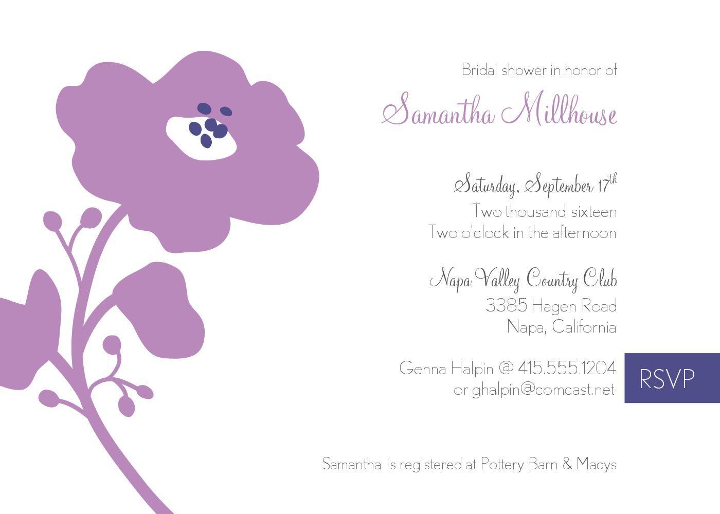 Bridal Shower Invite Template : Chanel Bridal Shower Invitation Template - Superb Invitation - Superb Invitation