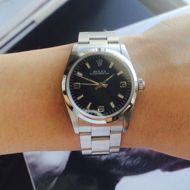 d32c20c11c5 Pre Valentine sale!!! Great deal rolex Junior oyster black face ...