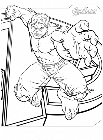 Avengers Hulk Dibujo para colorear | Superheroe | Pinterest | Hulk ...
