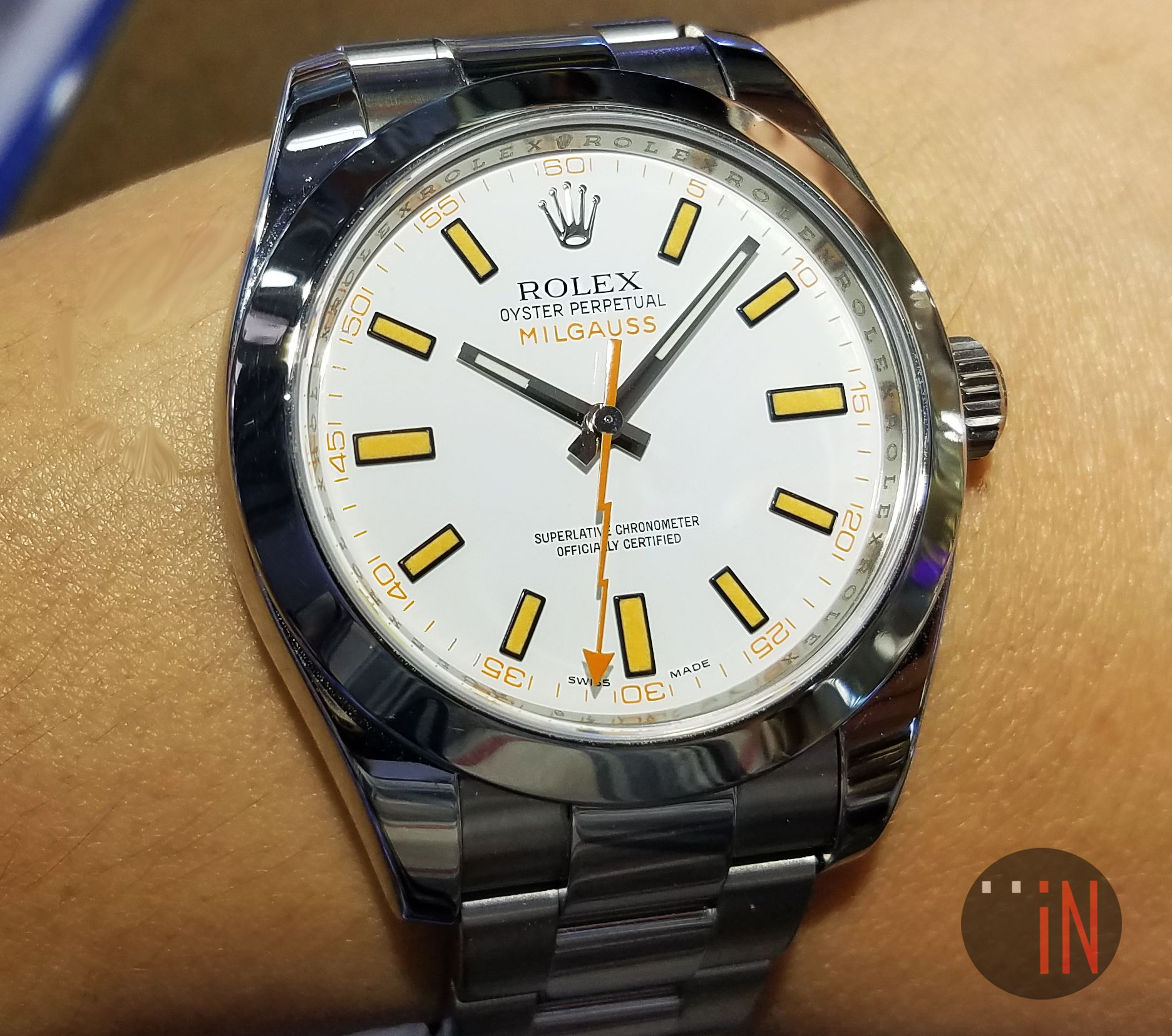 """Coloring Up the Season!"""" #Rolex 40mm Milgauss Stainless Steel M ..."""