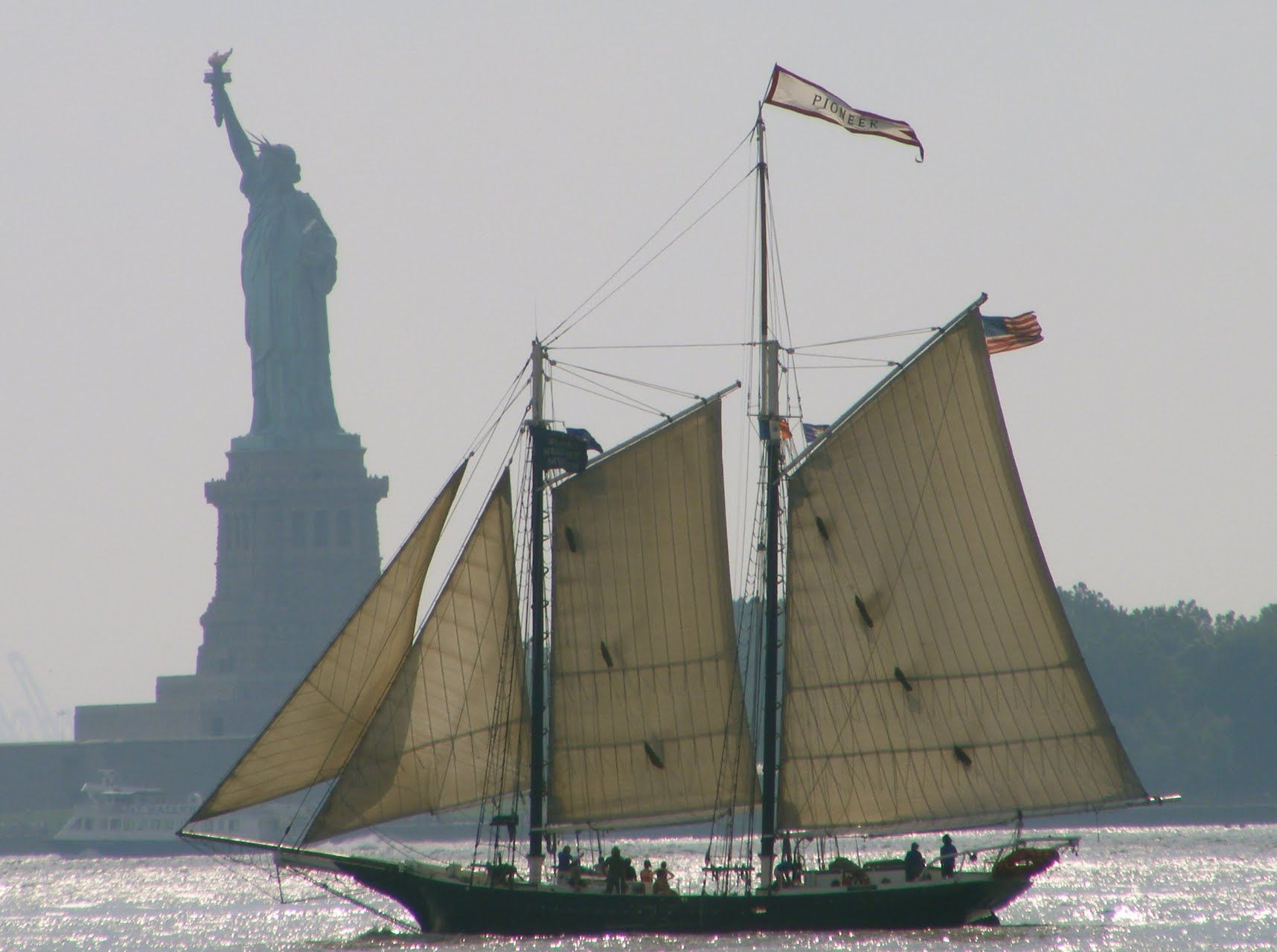 Schooner & The Statue of Liberty