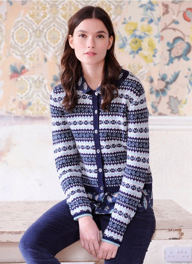 Cashmere Fair Isle Cardigan - Women's Cardigans | Brora | patterns ...