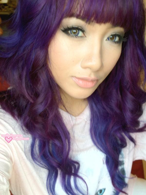 best purple hair color black hair with purple undertone   Purple Hair!