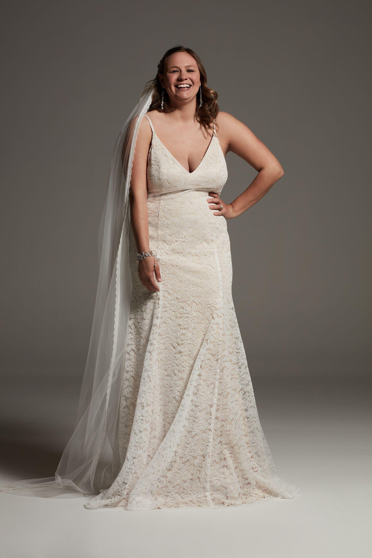 White By Vera Wang Floral Lace Plus Slip Dress David S Bridal In 2020 Slip Wedding Dress Dresses White By Vera Wang
