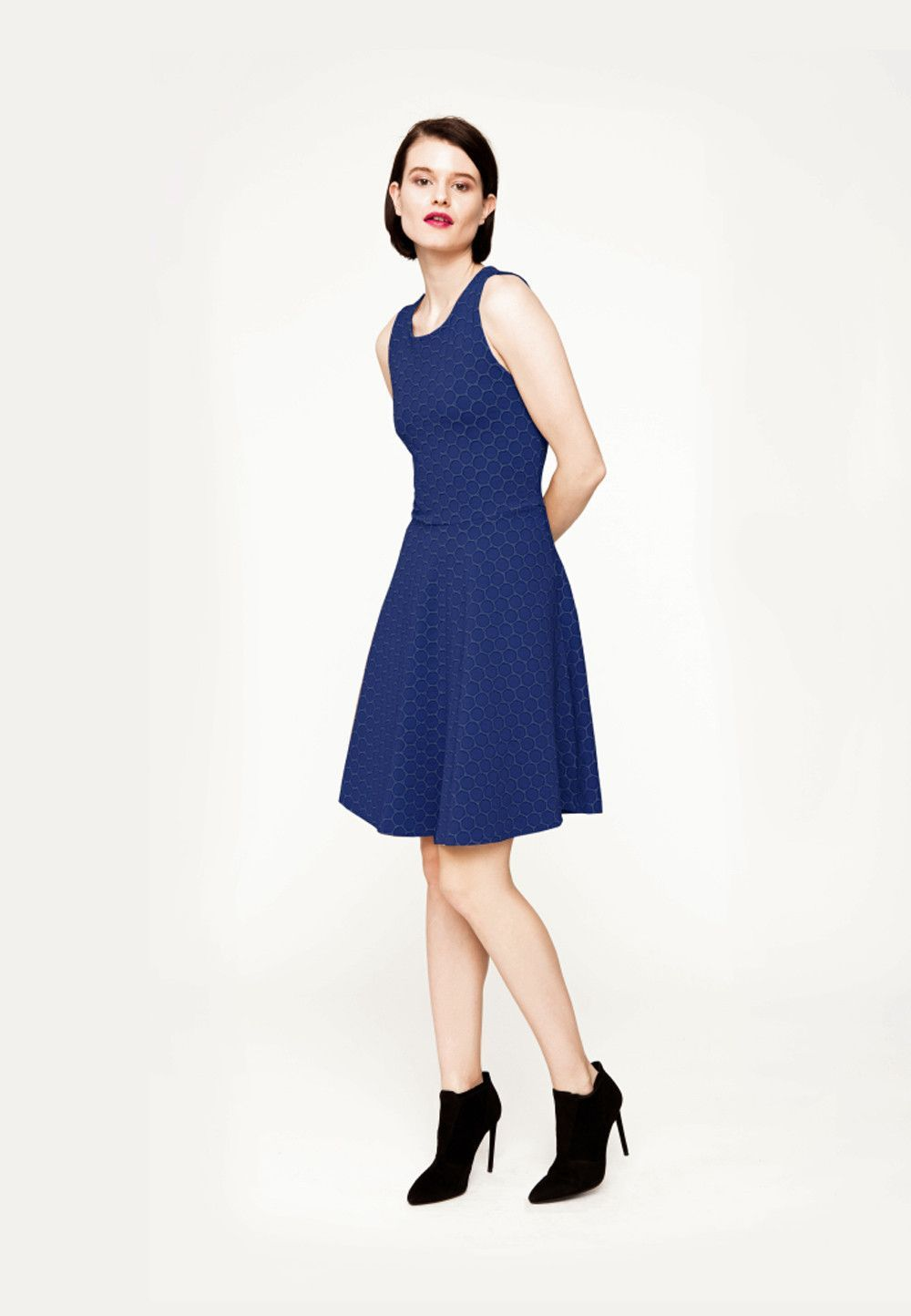 Ava Dress in Evening Blue Cameo