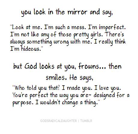 self perception and  God's....thank yo u God!