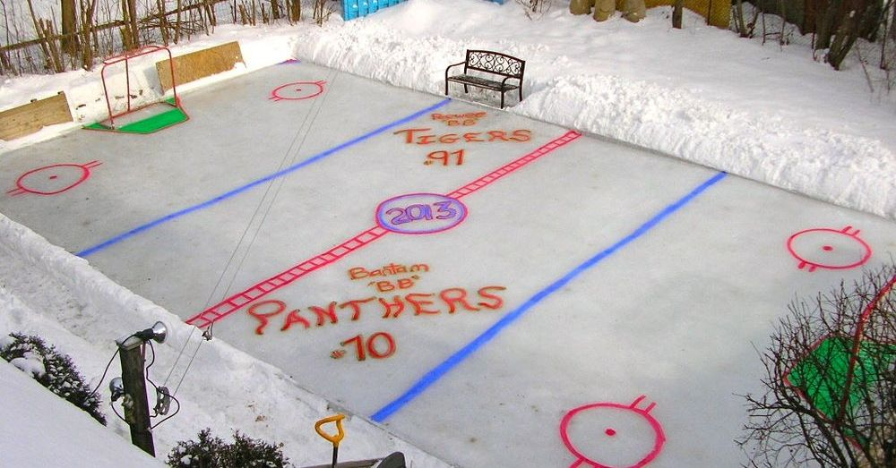 How to build a backyard skating rink. For all the hockey ...