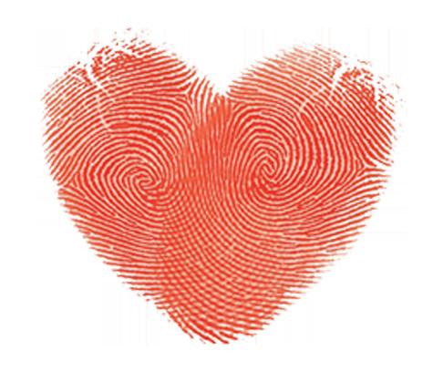 .heart prints of love