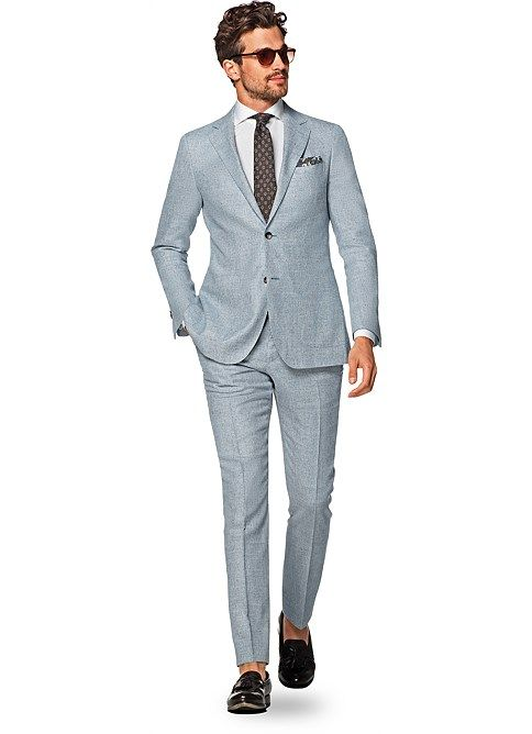 8c82982615d4 Suit Light Blue Plain Havana P5129i | Suitsupply Online Store | Amor ...