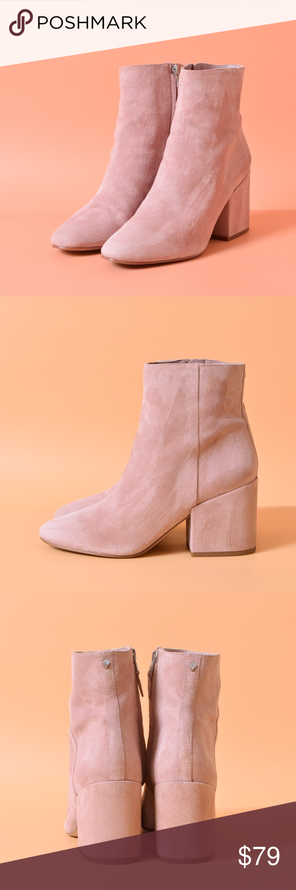 b93028b17b8a Sam Edelman Pink Suede Leather Taye Mauve Booties Pre owned great  condition. Maybe worn once