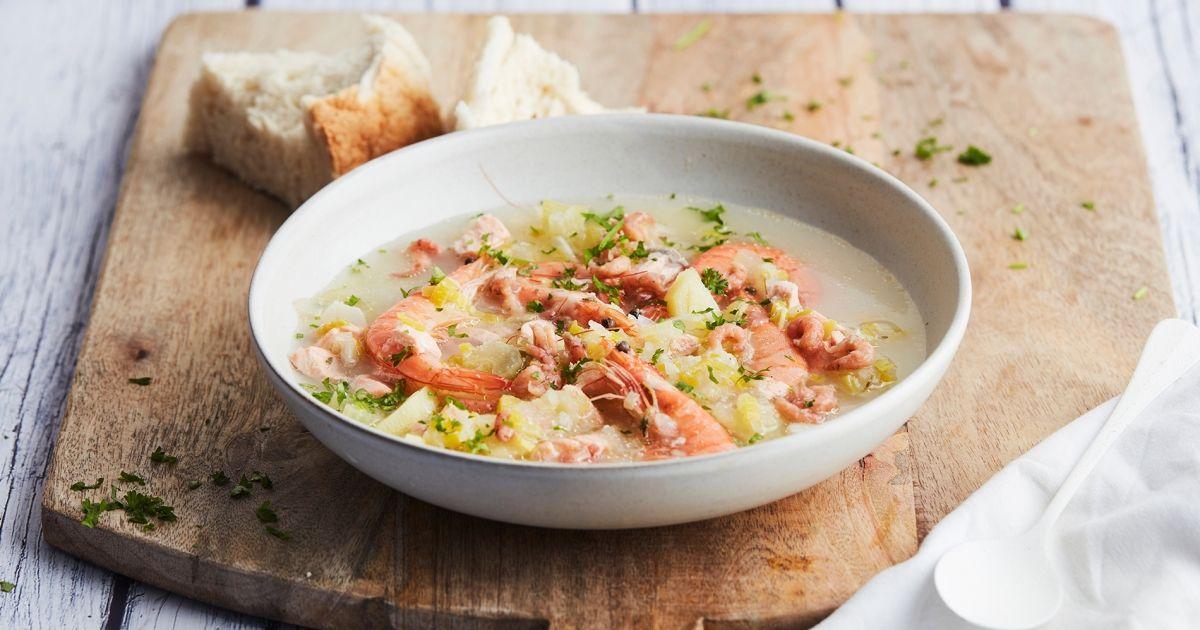 recette de lidl, soupe de poissons épicée   consommé ; bouillons