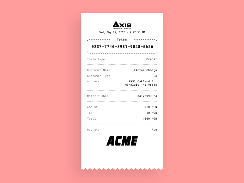 Payment Receipt Printout Template For Thermal Printer Sketch Freebie Download Free Resource For Sketch Sketch App Source Templates Receipt Template Freebie
