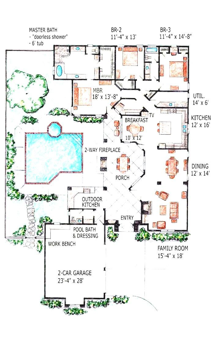 indoor swimming pools house plans and more pool plansg williston ...