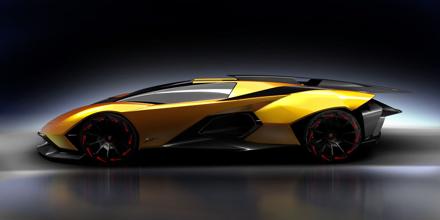 Lamborghini Vision Hypercar Concept For The Year Of 2022. The Name Ápis  Makes Reference To