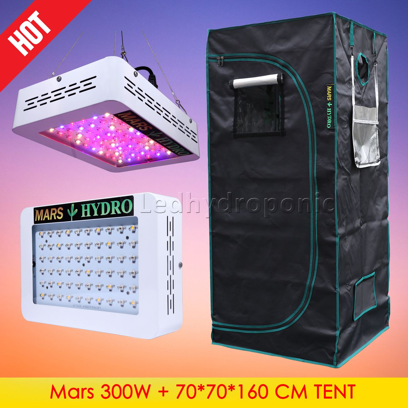 Mars Hydro 300w Led Grow Light 70x70x160 Cm Indoor Grow Tent