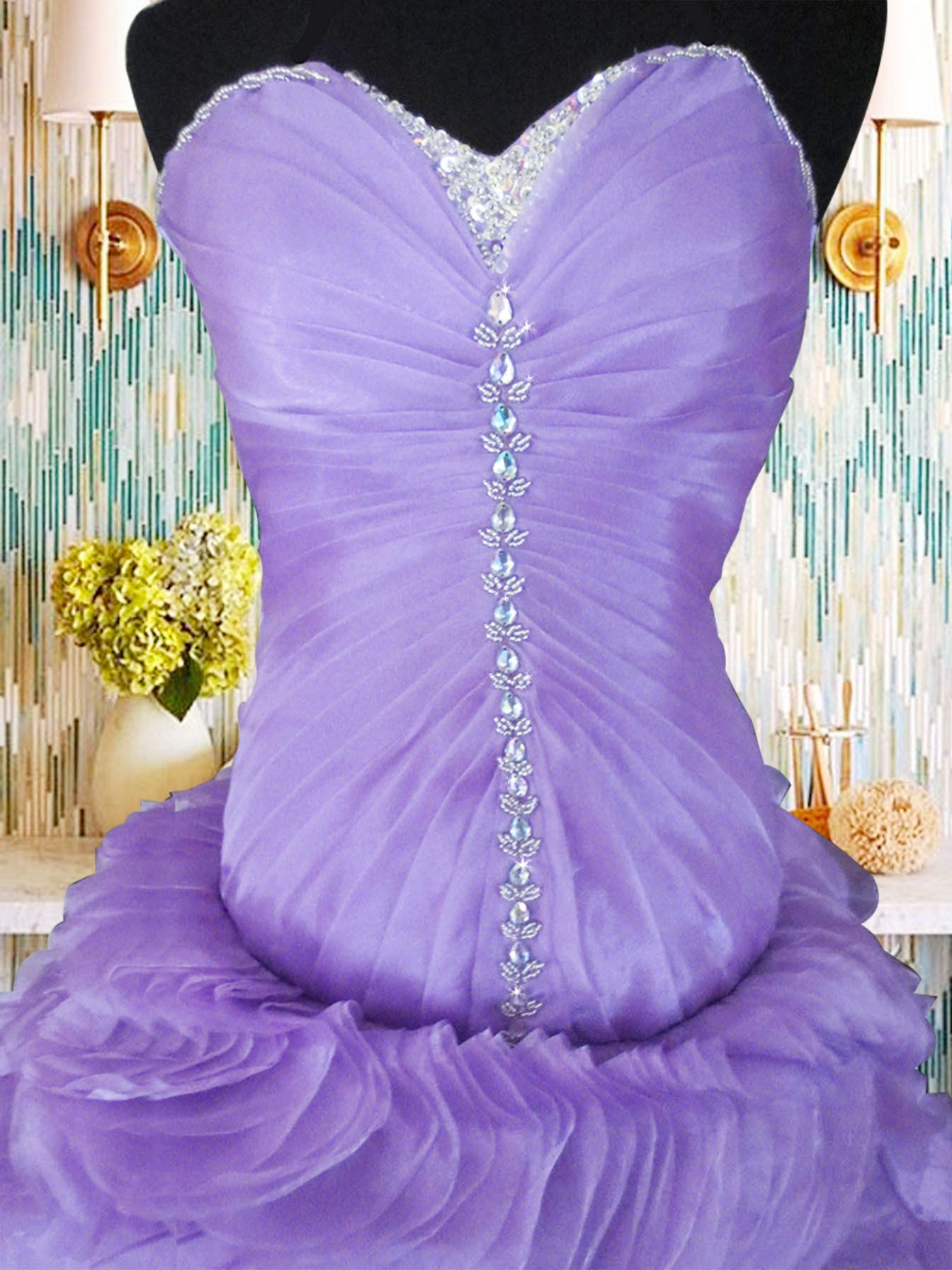 purple ball gown violet ball gown organza ball gown organza layering ...