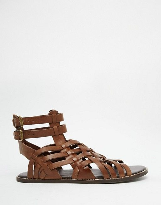 936185e9cd18 Gladiator Sandals in Brown Leather
