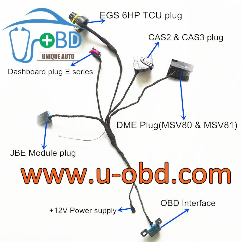 BMW CAS3 CAS3 Plus test platform harness cables | www u-obd com