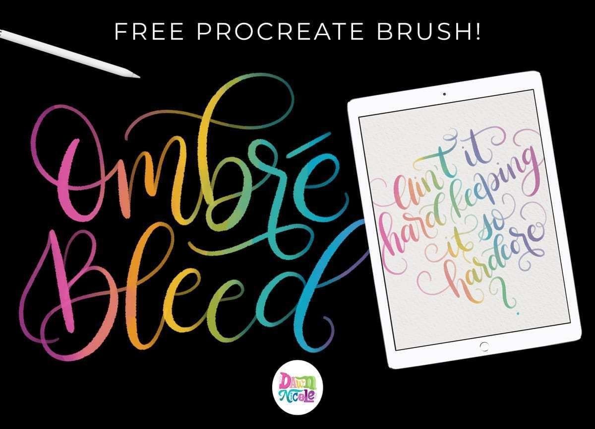 Procreate Tutorial Colorful Blended Calligraphy Calligraphy