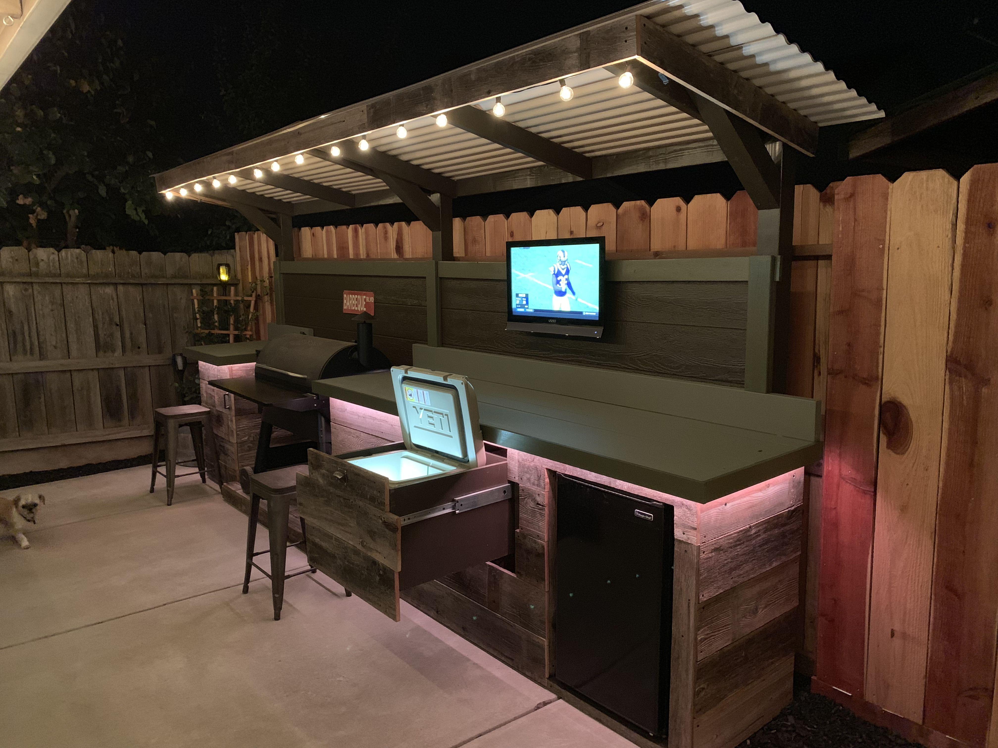 DIY Backyard bar and grill I made. | Backyard bar ...