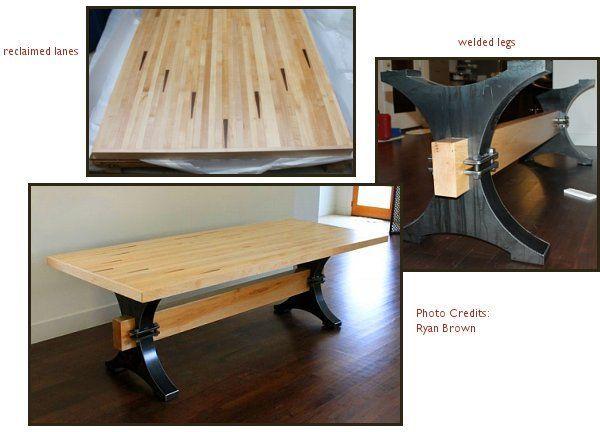 Bowling Lane Furniture   Bowling Alley Lane Table