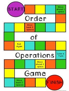 Order of Operations Math Centers | math | Math, Order of