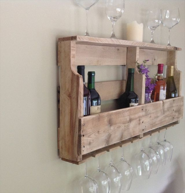 Wooden Pallet Rack Wine Instructions   Google Search