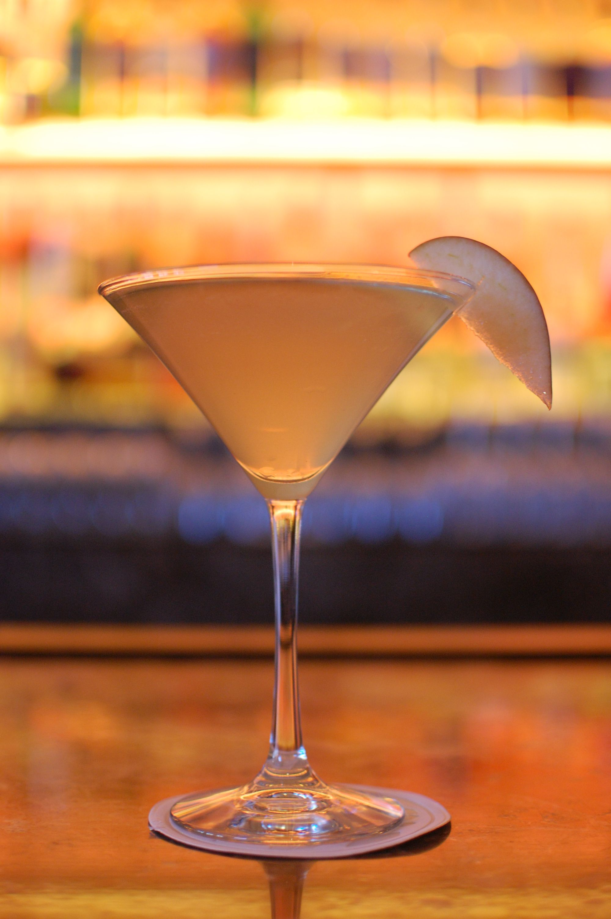 """Meet TY Bar's newest menu addition, the """"Midtown East"""" Martini.   Ingredients: 2 ounces elit™ by Stolichnaya® vodka  .5 ounce honey syrup  .5 ounce cinnamon syrup  1 ounce apple juice Top with Prosecco Garnish with a slice of red apple"""